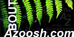 About Azoosh.com heading green tree fern plant white typeface font photo
