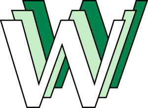 WWW 1st World Wide Web Logo designed by Robert Cailliau 3 x Ws white green graphic emblem