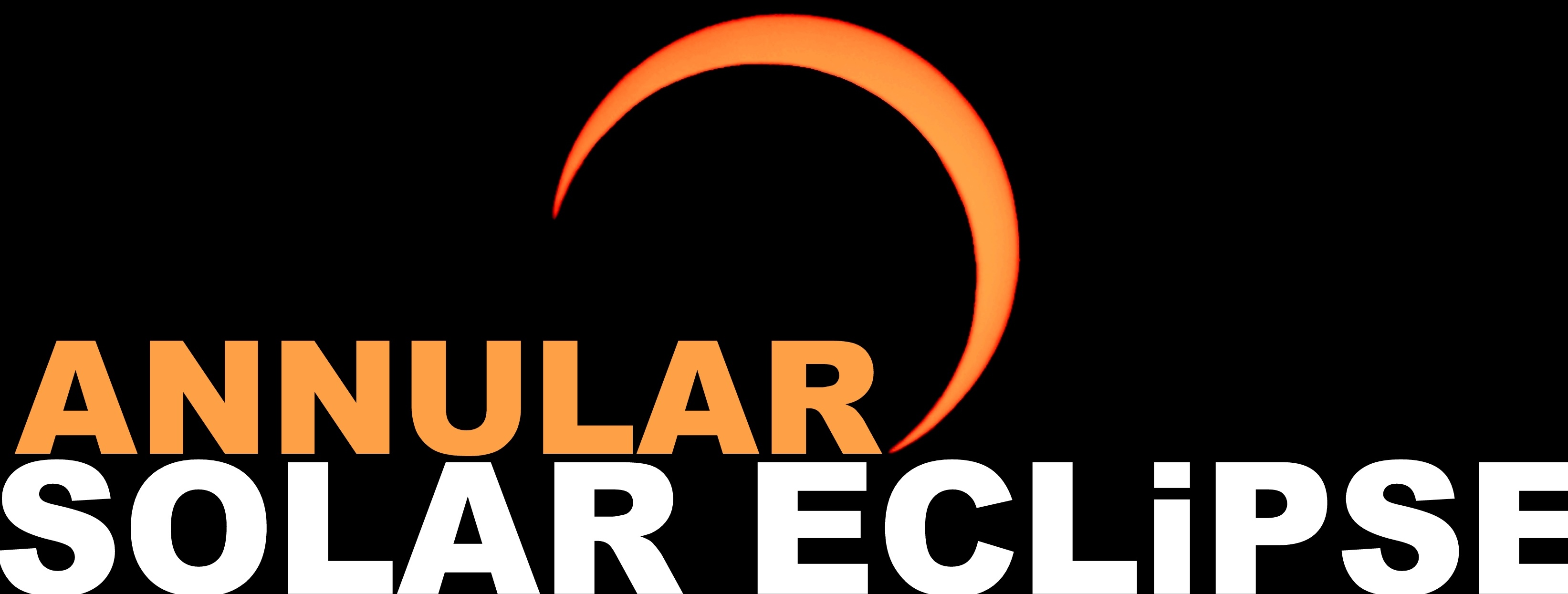 Annular solar eclipse sun moon space banner cover heading type font image photo