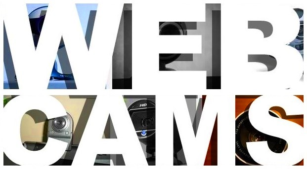 Webcams cover header banner web cam photos big bold white type heading pics