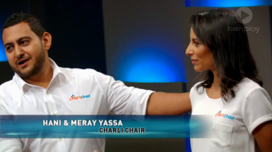 Shark Tank Hani & Meray Yasa CharliChair series 1 episode 9 Sunday 12 April 2015 Australian Channel 10 TenPlay