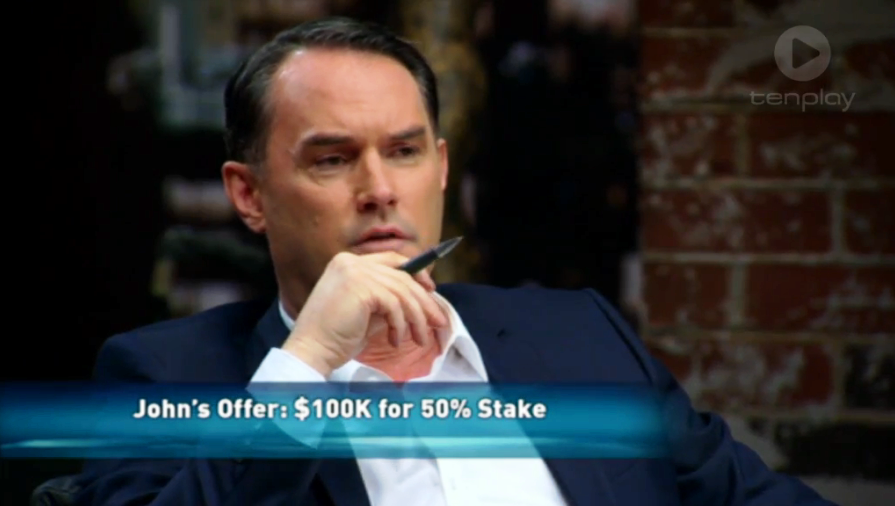 Shark Tank John McGrath CharliChair offer series 1 episode 9 Sunday 12 April 2015 Australian Channel 10 TenPlay
