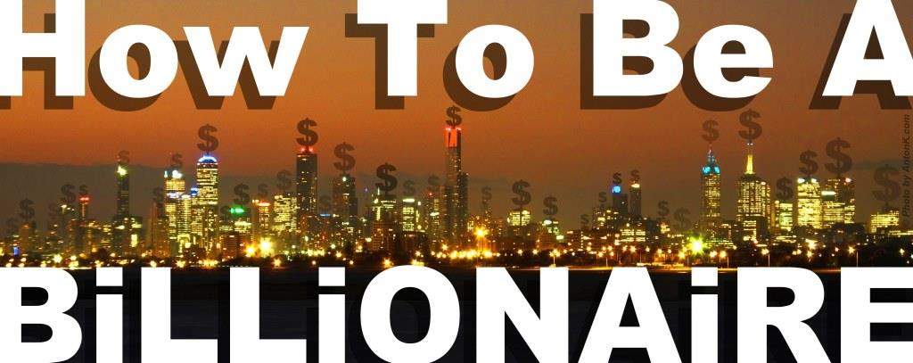 How To Be A Billionaire header cover banner Melbourne city night dollar signs $ photo