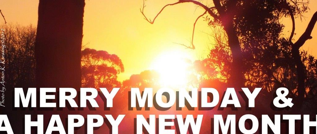 Merry Monday & a Happy New Week cover banner sunset sunrise photo 1st day winter June 2012 AntonK